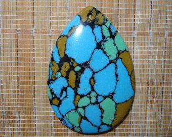 Dyed Turquoise Stone Teardrop Pendant Bead