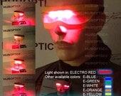 Prj7 Light Up Eyes - DJ Shades - Robot Eyes Rave Mask - Laser Eyes Style Cyclops Shades Cyborg Eyes for Gigs Cosplay Party Costume EDM mask
