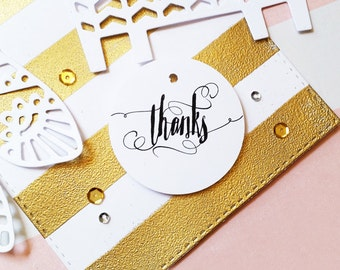 Thank You Tags, Calligraphy Tags, Product Hang Tags, Thank You Gift Tags, Party Favor Tags