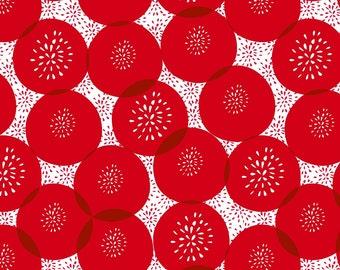 Wilmington Prints - Cherry Pop - Floral Polka Dot Cherry - Cotton Woven Fabric