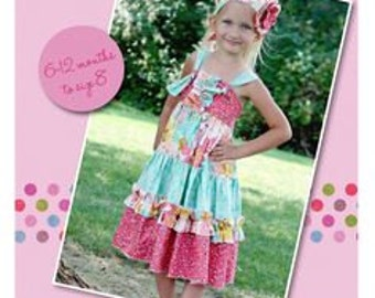 Create Kids Couture Aubrey's Tiered Ruffle Knot Dress with Fabric Flower Bonus! – New – Uncut