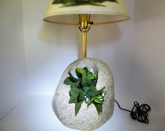 Grow Lamp/ Stone Lamp/Planter/Garden Lamp