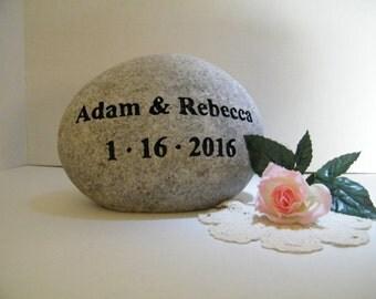Wedding Gift/Wedding Stone/Personalize Engraved Stones/Anniversary Stone