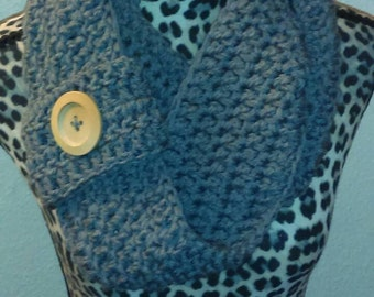 Big Wooden Button Infinity Scarf