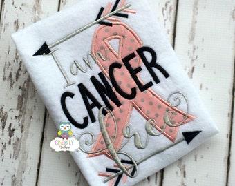 I am Cancer Free Cancer Awareness Shirt or Bodysuit, Cancer Awareness Shirt, Pink Ribbon Shirt, Cancer Awareness, Cancer Walk,