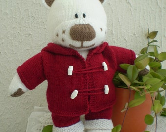 "Hand knitted 16"" Boo the Bear"
