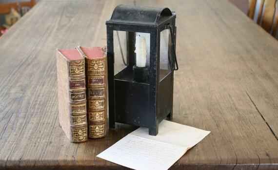 Antique Black Cast Iron Lantern Outdoor Metal Hanging Light