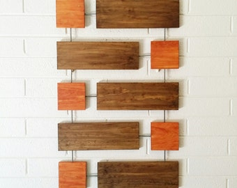 Cy Wall Sculpture, Wood Wall Art, Mid-Century Modern, Twombly, Minimal, Geometric, Retro, Contemporary, Abstract, Wall Decor, Art Objects
