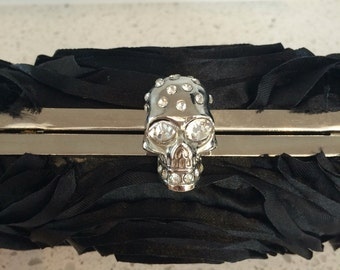 SALE!!! - Skull and flower clutch