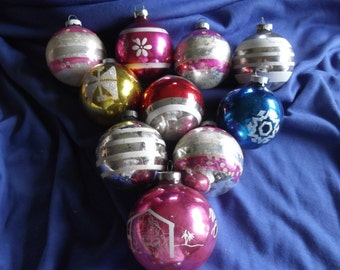 Group of 10 vintage Christmas tree bulgs #2
