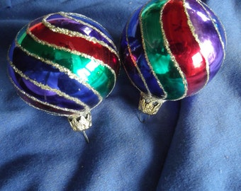 Set of 2 vintage Christmas Tree bulbs #3