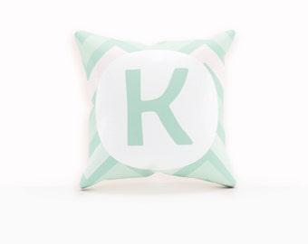 Mint Pillow, Monogram Decorative Pillow, Throw Pillows Modern, Monogram Throw Pillow Cover, Throw Pillow Monogram, Pillow Case Personalized,