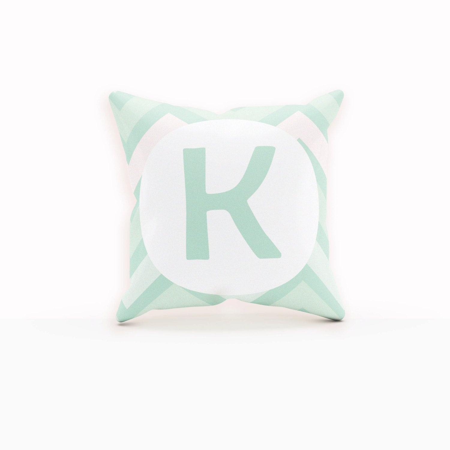 Decorative Pillows With Monogram : Mint Pillow Monogram Decorative Pillow Throw Pillows Modern