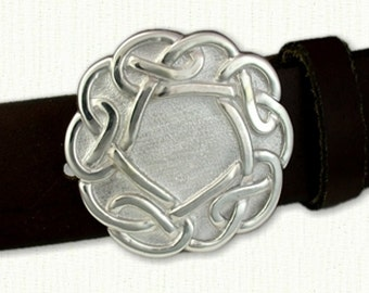 Celtic Galway Knot Belt Buckle ( 2.25 x 2.25 inches)