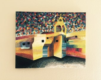 "Artsy Church-16""x20"" Acrylic Paintings"