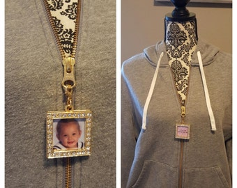 Zipper Clothing Jewelry Photo Charm