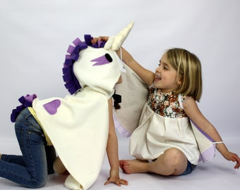 Unicorn 'Violet' -- Children's dress-up costume for imaginative play