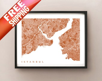 Istanbul Map Print - Turkey Poster