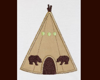 Teepee  Custom  Embroidery Design -INSTANT DOWNLOAD-