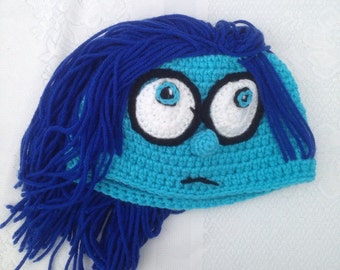 Sadness Hat -  Inside Out Sadness Hat Baby Newborn Toddler Adult