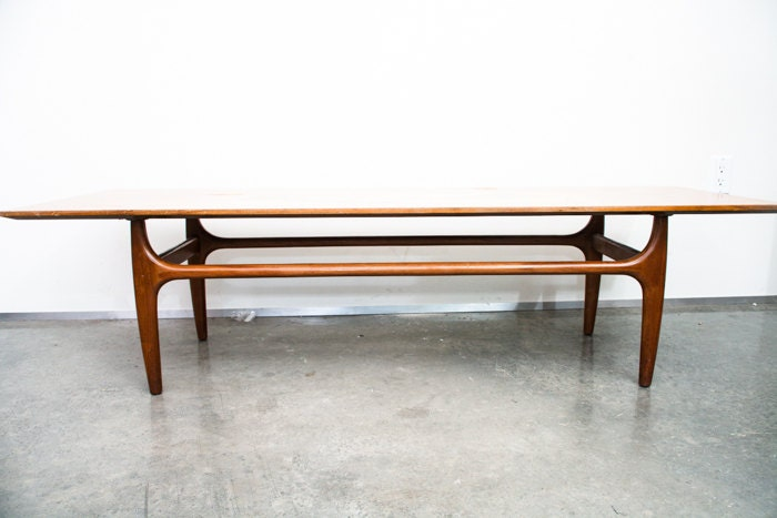 Mid century modern coffee table side wide wood inlay for 10 wide end table