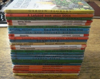 Set of 26 Nature Themed Ladybird books