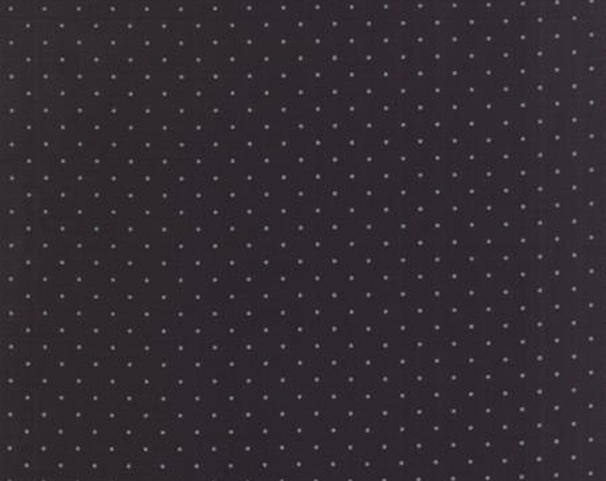 Modern BG Ink Pindot Black - 1/2yd