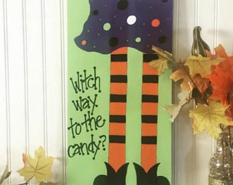 Halloween Witch sign
