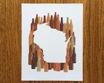 Wisconsin State Print - Brew