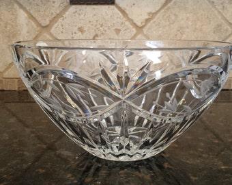 1980's Gorham Cut Crystal Bowl ~ Victoria's Garden ~Poland ~ Original Tag ~ Mint, Never Used