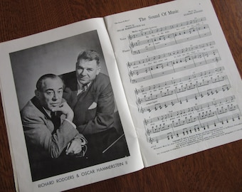 1959 The Sound of Music, Vintage Book, Score, Sheet, Songs, Rodgers and Hammerstein, Julie Andrews, Movie Nostalgia,Piano,Lyrics,Voice,Vocal