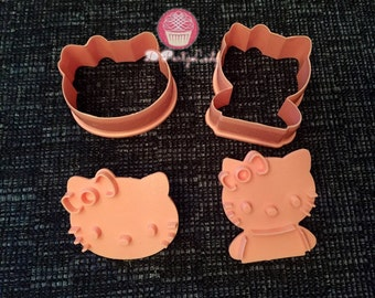 Hello Kitty silicone mold or cutter fondant cookie candy chocolate tool