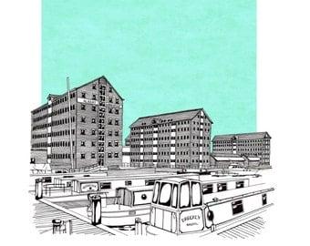 Gloucester Docks, Limited Edition Print
