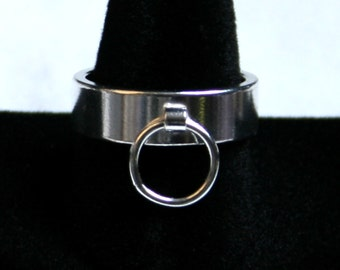 Heavyweight Sterling Silver Ring of O, BDSM Ring, Story of 'O' Ring. Fully UK hallmarked. 6 mm Slave ring. Sizes I to Z  (US 4 1/2 - 12 1/2)