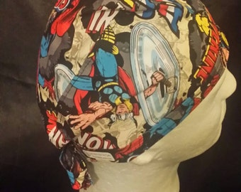 Avengers Again! Tie Back Surgical Scrub Hat