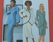 Butterick 4388 Easy to sew skirt and jacket with curved front Uncut Sizes 16, 18, 20 and 22