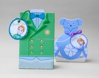 First Prince Gift Box(Only the green one), Favor Box Printable, Goodie Box.