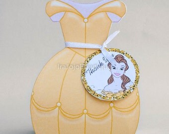 Beautiful and Beast Princess Gift Box, Favor Box,  Goodie Box.