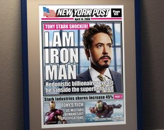 Iron Man Fan Art Poster - Newspaper