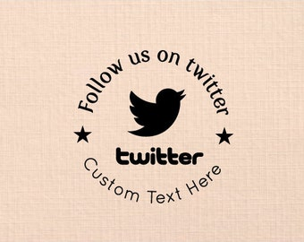 Handle Mounted rubber stamp Twitter Icon SF 03