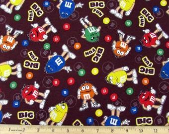 Per Yard, M&M Candy Big Fun Fabric From Springs Creative