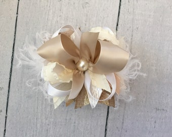 Neutral couture bow