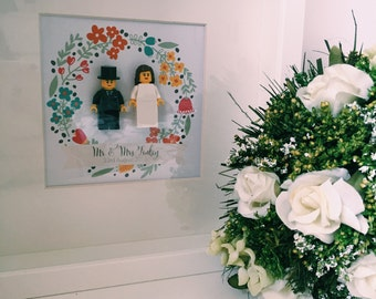 Mr & Mrs lego frame
