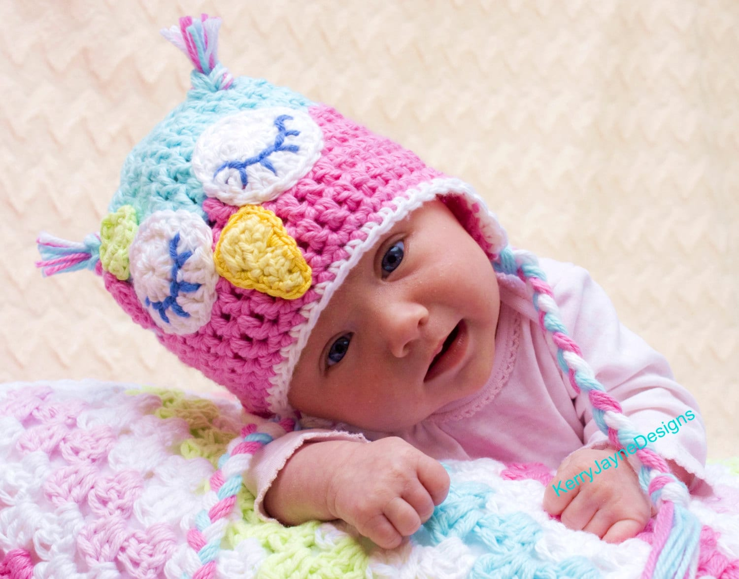 Crochet owl hat pattern by kerry jayne designs baby owl hat zoom bankloansurffo Image collections