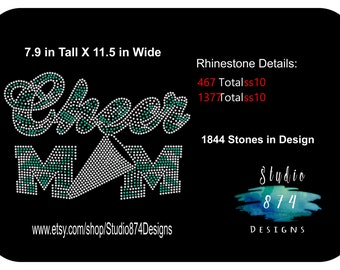 Rhinestone Transfer Template Pattern  - Cheerleading/Bling - Cheer Mom -  DOWNLOAD - Sticky Flock