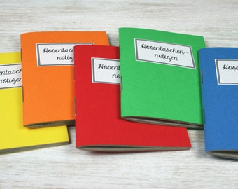 Pocket notes - 5 mini notebooks / / colorful