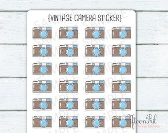 Vintage camera Stickers-J414