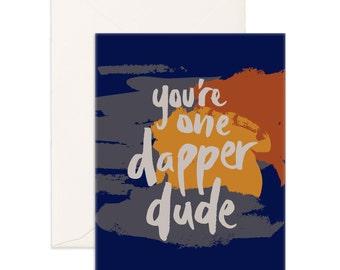 Dapper Dude Greeting Card