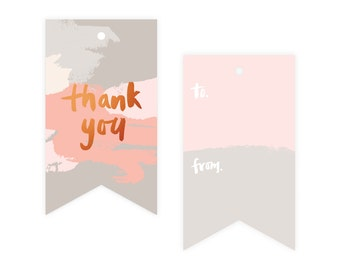 Thank You Copper Foil Gift Tag Pack