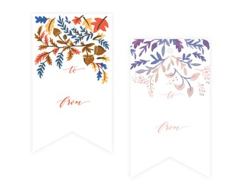 Fall / Winter Floral Gift Tag Pack